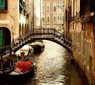 Fototapeta Tradycyjne Wenecja gandola jazdy