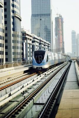 Fototapeta Train in dubai, United Arab Emirates