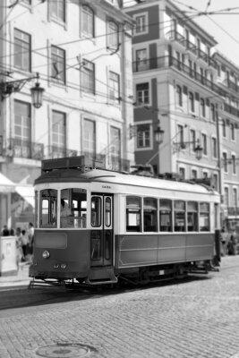 Fototapeta Tramwaj w Lizbonie, retro