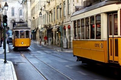 Fototapeta Tramwaje, Lizbona, Portugalia
