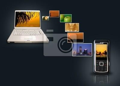 Transfer zdjęcie z laptopem na komórkę