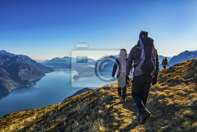 Fototapeta Trekking nad jeziorem Como