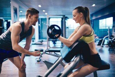 Fototapeta Trening w siłowni