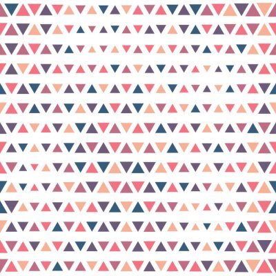 Fototapeta Trójkąty kolor bez szwu wektor wzór.
