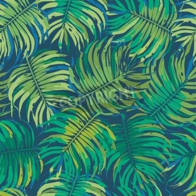 Fototapeta Tropic Floral bezszwowe tło wzór
