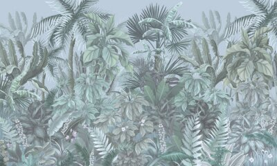 Fototapeta Tropical forest, jungle, blue
