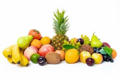 Fototapeta tropical fruit isolated on a white background
