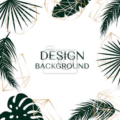 Tropikalne tło z wolnego miejsca na tekst są logo.