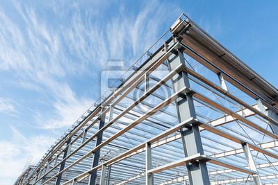 Fototapeta trwa budowa konstrukcji ram stalowych