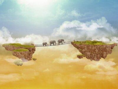 Fototapeta Trzy słonie. Ilustracji.