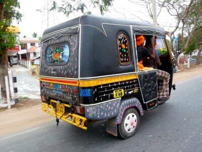 Fototapeta Tuk tuk taksówką w Indien