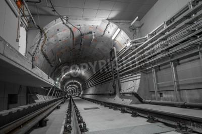 Fototapeta Tunel do metra prowadzącej deepdown