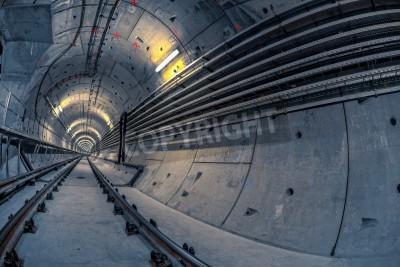 Fototapeta Tunel do metra prowadzącej głęboko