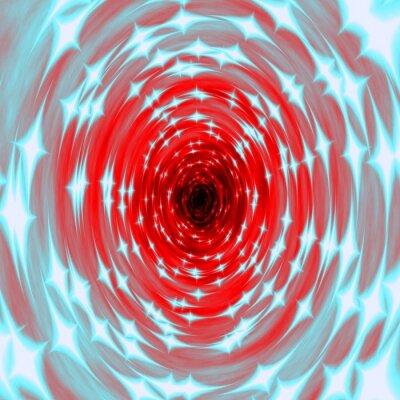 Fototapeta tunel ognia tekstury