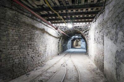 Fototapeta Tunel podziemny oświetlenie