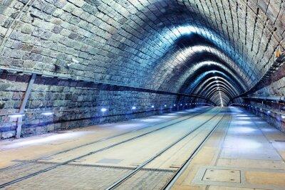 Fototapeta Tunel z kolei i tramwaju