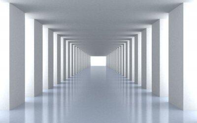 Fototapeta Tunnel białe światło