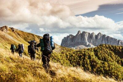 Fototapeta turystyka w górach