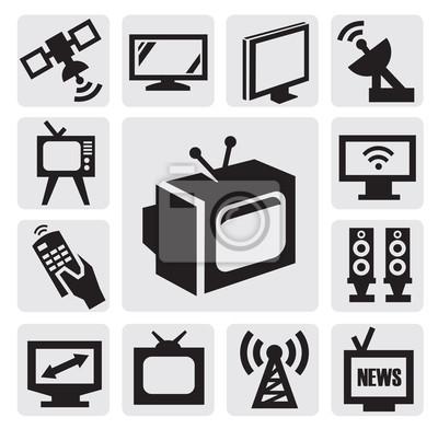 TV zestaw ikon