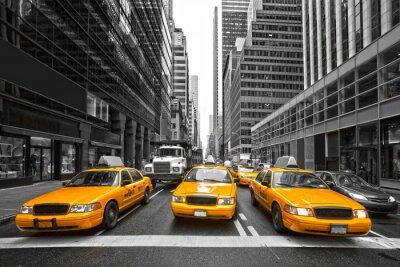Fototapeta TYellow taksówki w Nowym Jorku, USA.