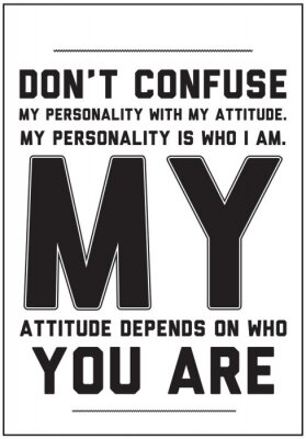 Fototapeta Typografia motywacyjny plakat z cytatem na białym tle