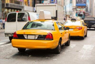 Fototapeta Typowe żółte taksówki w Nowym Jorku