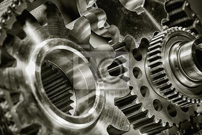 Fototapeta tytanu i stali narzędzi oraz przemysłu lotniczego i części rakiet