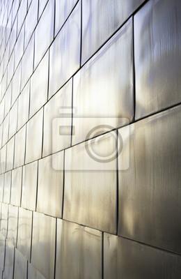 Fototapeta Tytanu metalowej ścianie
