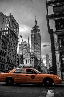 Fototapeta Ulica Nowy Jork w wieczór