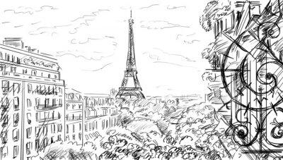 Fototapeta Ulica w Paryżu.