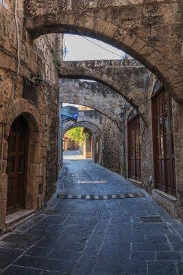 Fototapeta Ulica w średniowiecznym mieście