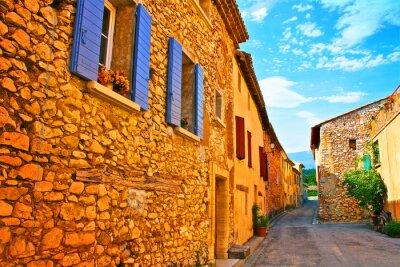 Fototapeta Ulica wioska francuski Prowansji