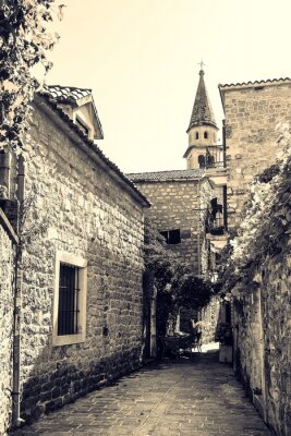 Fototapeta Ulice Starego Budva, Czarnogóra