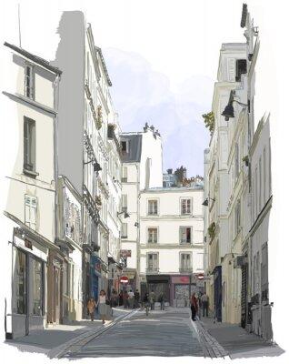 Fototapeta ulicy w pobliżu Montmartre w Paryżu