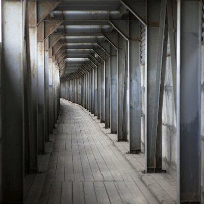Fototapeta Underground ze ścian i drabiny