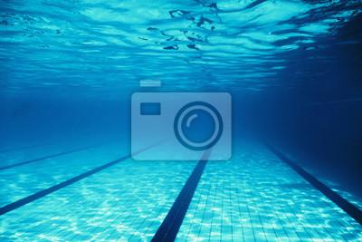 Fototapeta Underwater Empty Swimming Pool
