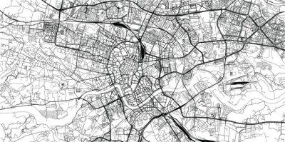 Fototapeta Urban vector city map of Krakow, Poland