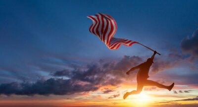 Fototapeta US American flag for USA Memorial day