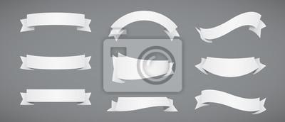 Fototapeta Ustaw białego papieru Wstążki