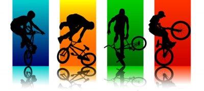 Fototapeta Ustaw Figures BMX
