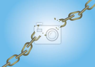 uszkodzony łańcuch