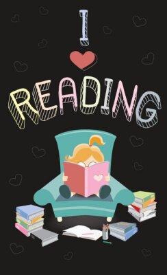 Fototapeta Uwielbiam czytać