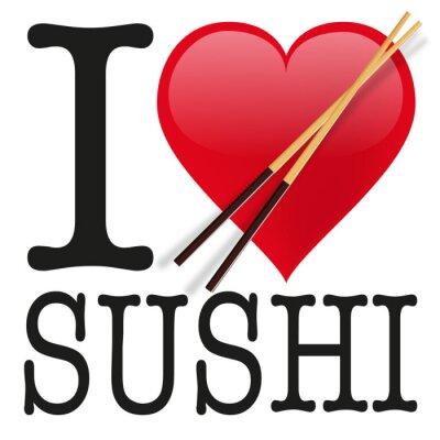 Fototapeta Uwielbiam sushi