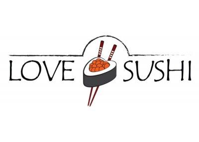 Fototapeta Uwielbiam sushi ikonę