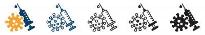 Fototapeta vaccine icon set, vaccine icon in different style, vector illustration