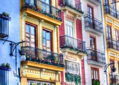 Fototapeta Valencia Rynek zewnątrz budynku