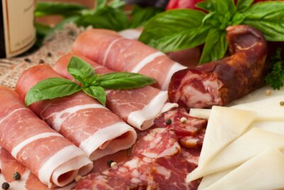 Fototapeta Variety of meat products
