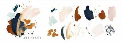 Fototapeta vector Abstract Illustration. watercolor and gold splash,  isolated on white background. elegant modern