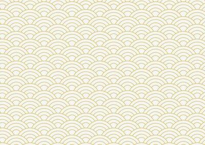 Fototapeta vector background of gold japanese wave pattern