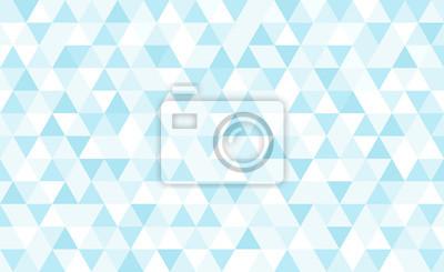 Vector blue triangular mosaic background. Abstract retro geometric pattern.